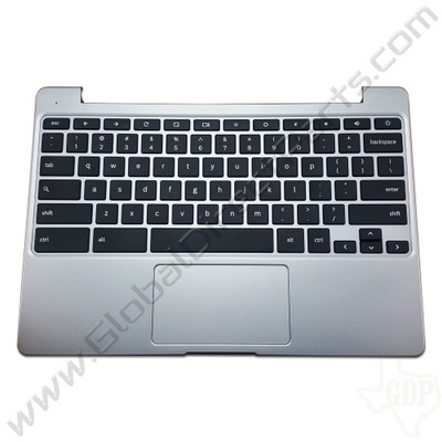 OEM Reclaimed Samsung Chromebook 2 XE500C12 Keyboard with Touchpad [C-Side] - Gray [BA96-06937A]