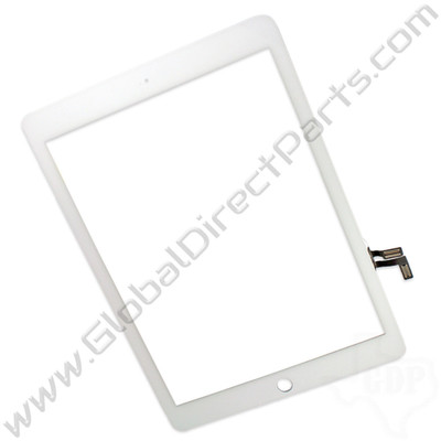 Aftermarket Digitizer Compatible with Apple iPad Air, iPad 5th Gen [Not Including Home Button Assembly] - White