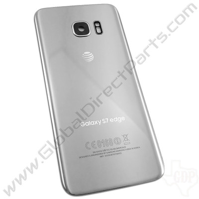 OEM Reclaimed Samsung Galaxy S7 Edge G935A Battery Cover - Silver
