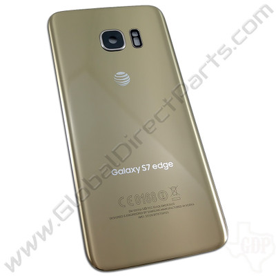 OEM Samsung Galaxy S7 Edge G935A Battery Cover - Gold
