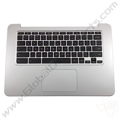 OEM Reclaimed HP Chromebook 14 G3, G4 Keyboard with Touchpad [C-Side] - Black [Black Strip] [788511-001]