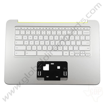OEM Reclaimed HP Chromebook 14 G3, G4 Keyboard [C-Side] - White [Yellow Strip] [788511-001]
