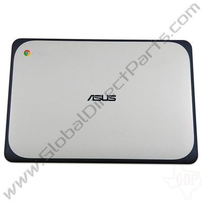 OEM Reclaimed Asus Chromebook C202S LCD Cover [A-Side] - Light Gray [Blue Bumper]