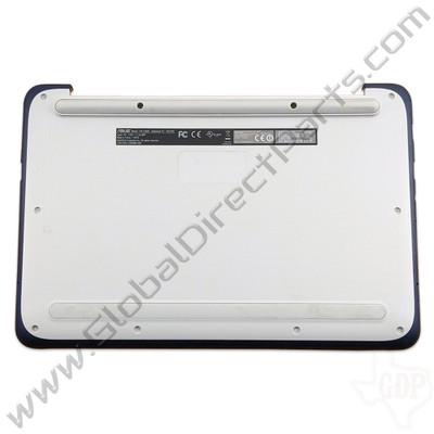OEM Reclaimed Asus Chromebook C202S Bottom Housing [D-Side] - Light Gray [Blue Bumper]