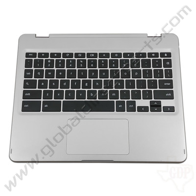 OEM Samsung Chromebook Plus XE513C24 Keyboard with Touchpad [C-Side] - Silver