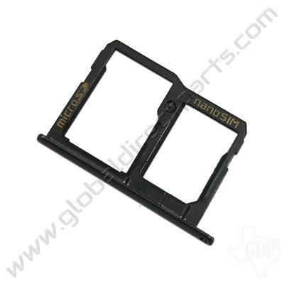 OEM LG X Charge SIM & SD Card Tray - Black [MBN64704601]