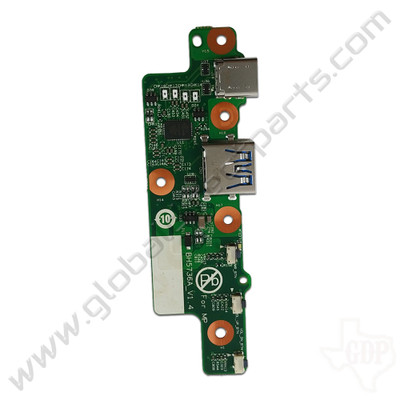 OEM Lenovo 500e Chromebook 81ES Power, Volume & Type-C USB PCB