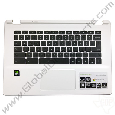 OEM Reclaimed Acer Chromebook 13 CB5-311 Keyboard with Touchpad [C-Side] - White