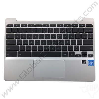 OEM HP Reclaimed Chromebook 11 G5, G5 Touch, 11-V011DX Keyboard with Touchpad [C-Side] - Black [900818-001]