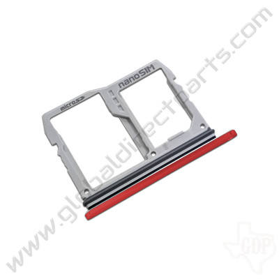 OEM LG G8 ThinQ G820TMR SIM Card Tray - Red [ABN76138103]