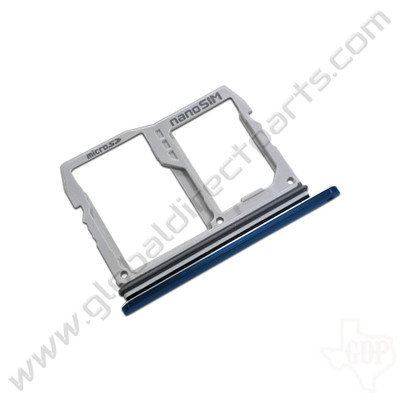 OEM LG V40 ThinQ V405UAL SIM Card Tray - Blue [ABN75659902]