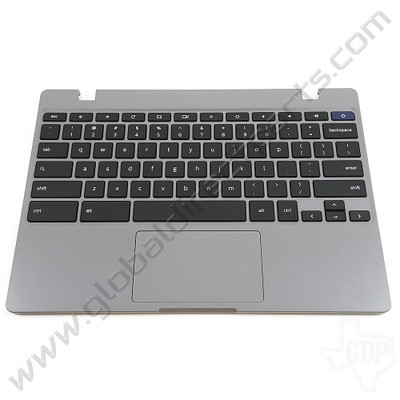 OEM Samsung Chromebook 4 XE310XBA Keyboard with Touchpad [C-Side] - Silver [BA98-01976A]