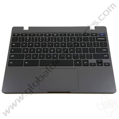OEM Samsung Chromebook 4 XE310XBA Keyboard with Touchpad [C-Side] - Gray [BA98-01976A]