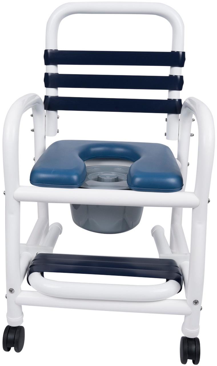 New Era Pvc Rolling Shower Chair W Footrest Dne 118 By Mor Medical