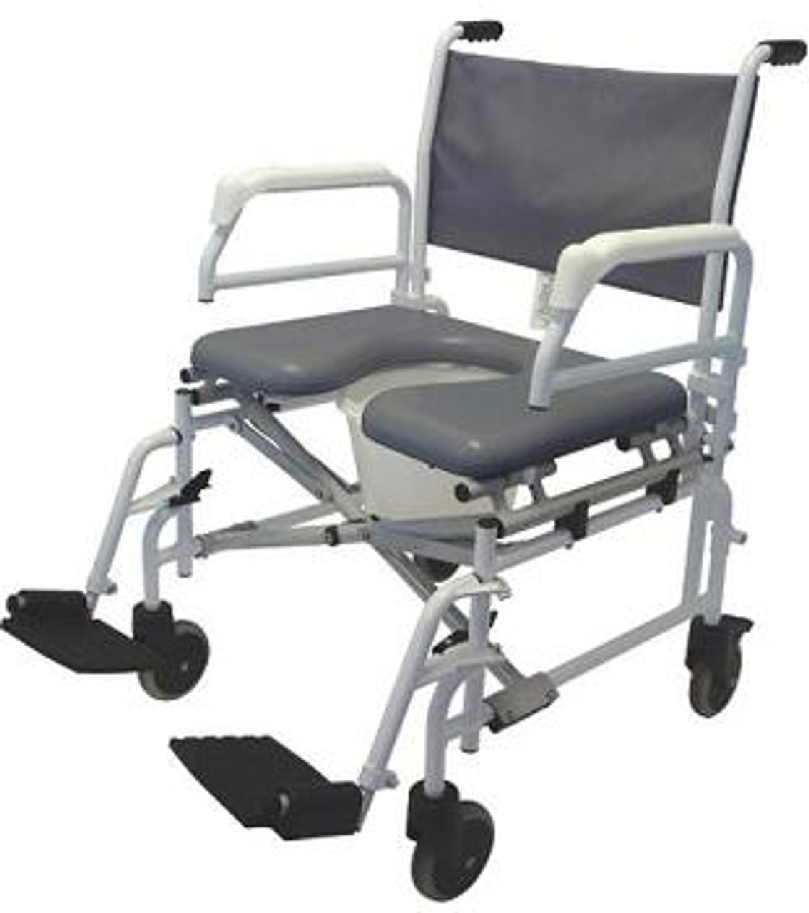 Heavy Duty Rolling Shower Commode Chair S10 by Tuffcare