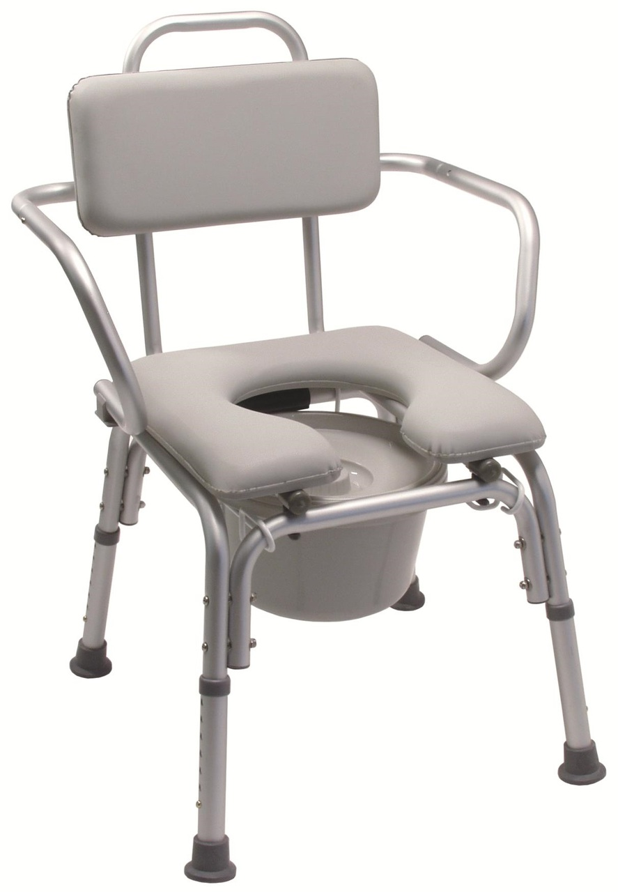 Lumex Deluxe Padded Bath Commode Chair With Arms 7947a