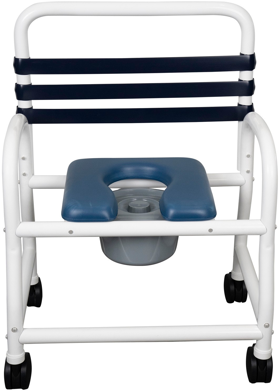 Work Stool Rolling Swivel Stool Padded Pvc Seat 5 Wheels Adjustable Height Blue