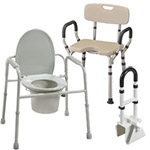 Bathroom safety equipment, commodes, shower chairs, more