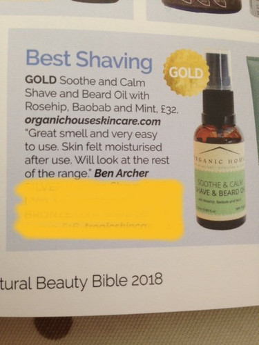 Natural, Organic Shave and Beard Oil with Essential Oils,