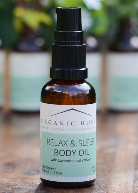 Night time relax body oil