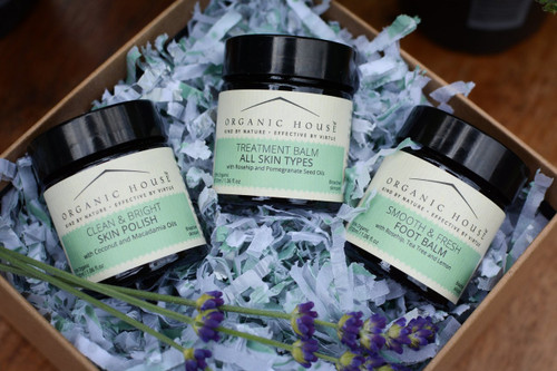 Skin Polish, Foot Balm and Treatment Balm Gift Box