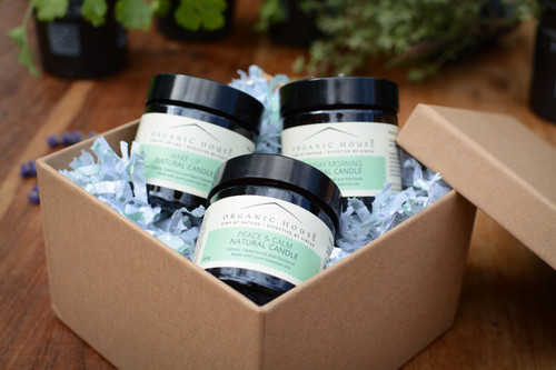 Peace And Calm Scented Candles with Vetiver, Cedarwood and Patchouli Gift Box
