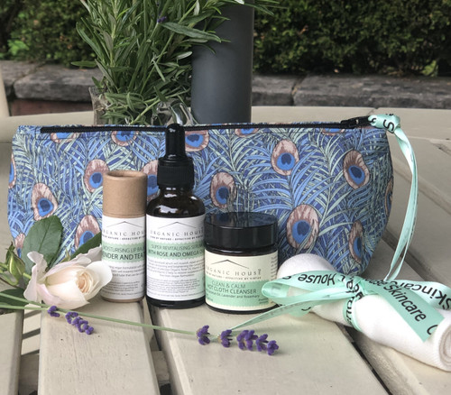 Organic Skincare in Limited Edition Cosmetic Bag