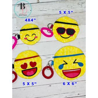 Emoji Zipper Pouch | Emoji Coin Purse | Small Coin Purse | Change Pouch with Zipper | Emoji Zippered Bag