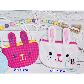 Bunny Purse | Bunny Purse | Zip Coin Purse | Toddler Purse | Little Girl Purse | Carrot Coin Purse