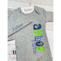 Personalized Baby Boy Gown | Baby Boy Newborn Gown | Baby Boy Gown with Applique Name | Modern Plaids and Dots