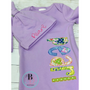 Personalized Baby Girl Gown | Baby Girl Newborn Gown | Baby Girl Gown with Applique Name | Newborn Outfit | Modern Flora