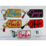 Savage Woman | Embroidered Key Chain | Attitude Charms | Confident Female | Gift for Her | Bridesmaid Gift
