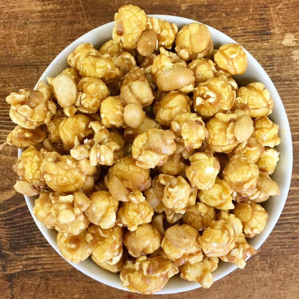 Caramel Popcorn with Peanuts