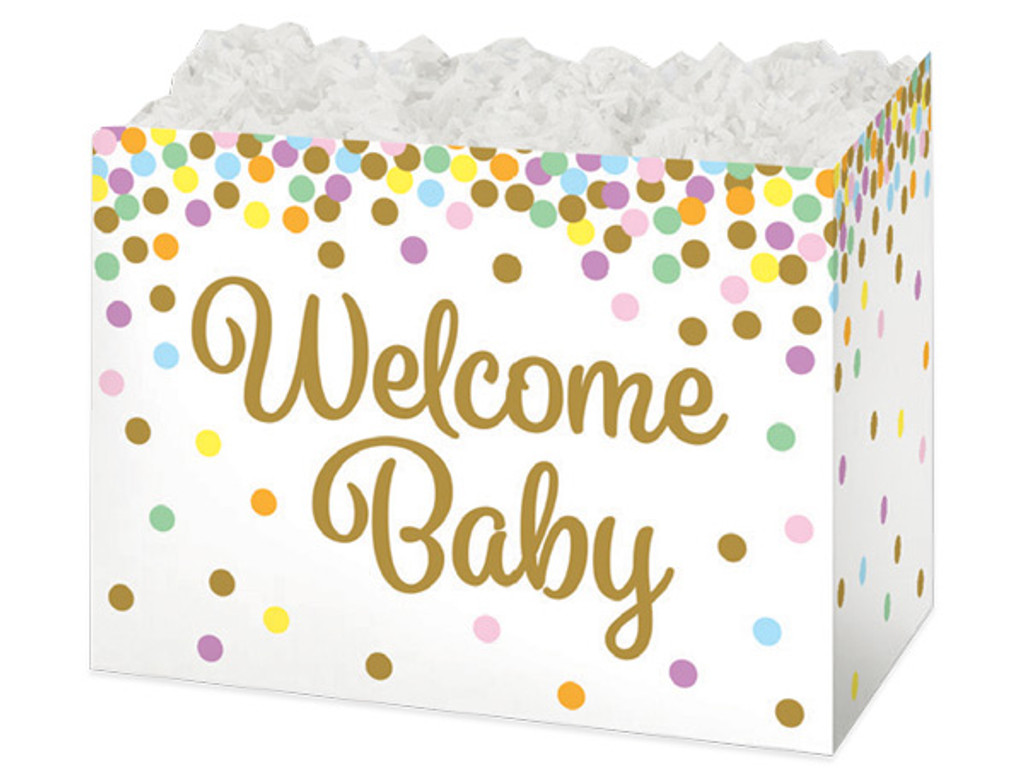 Welcome Baby White Gift Box