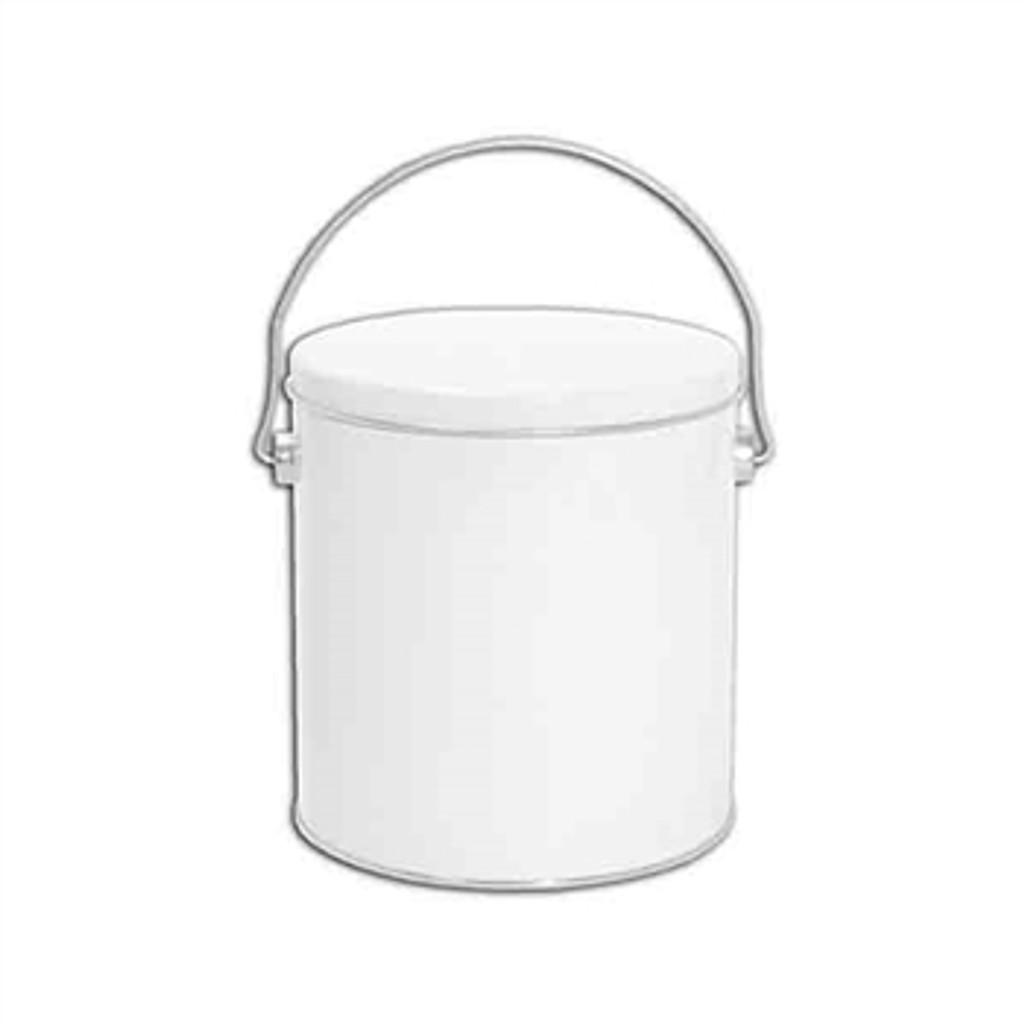 Solid White 1 Gallon Tin