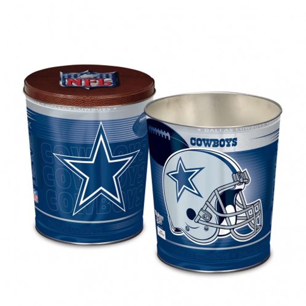 Dallas Cowboy 3 Gallon Tin