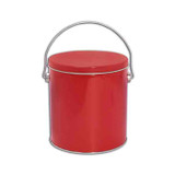 Solid Red 1 Gallon Tin