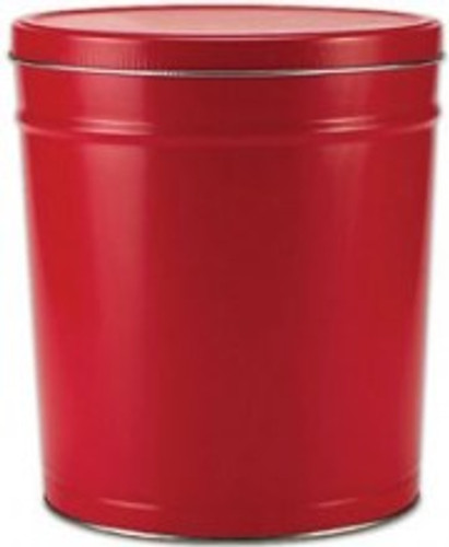 Solid Red 6.5 Gallon Tin