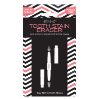STAINO® Tooth Stain Eraser - like a pencil eraser for tooth stains.