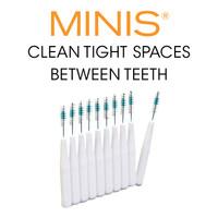 MINIS® clean tight spaces between teeth.