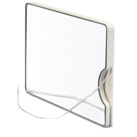 STAINO® Flossbox® Floss & cosmetic mirror the size of a business card.