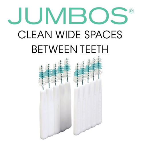 JUMBOS® tapered brushes clean wider interdental spaces