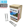 #10 x 3 Inch 316 Marine Grade Stainless Steel Wood Screws 100 Pack T25 Star Drive Type 17 Point for Docks, Decks, Jetties, Fences or Any Coastal Marine Construction