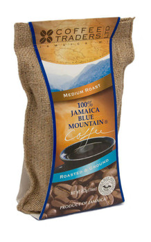 100% Jamaican Blue Mountain Coffee, Certified, Medium Roasted and Ground - 16 oz