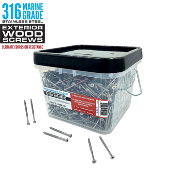 316 Grade Stainless Steel Wood Screws 1500 Pieces
