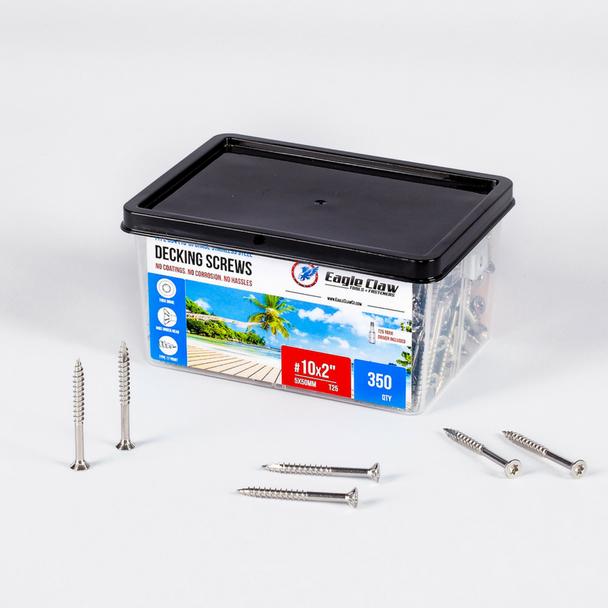 2 inch stainless steel deck screws