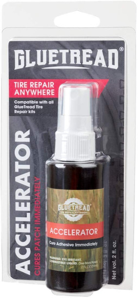 GlueTread Accelerator - Cures Patch Immediately and eliminates cure time when used with Glue Tread Products