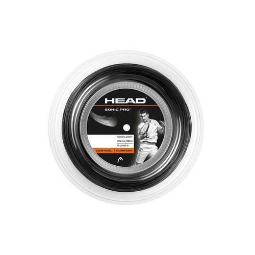 Head Sonic Pro 1.25/17G (Black) String Reel 200m