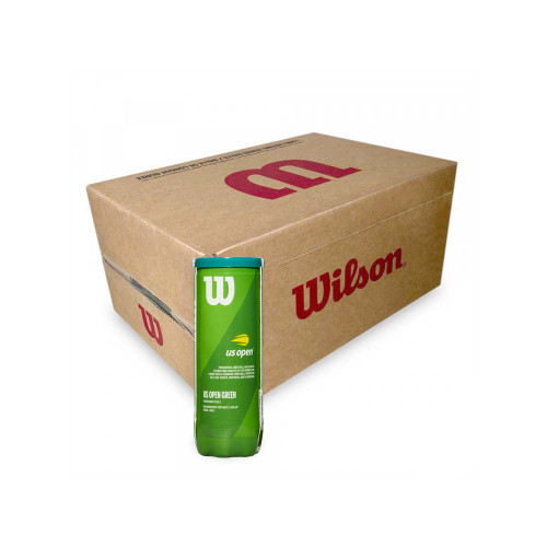 Wilson US Open Green (3 Ball Can) Carton 72 Balls