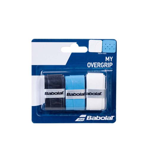 Babolat MY OVERGRIP 3 Pack (Black/Blue/White)